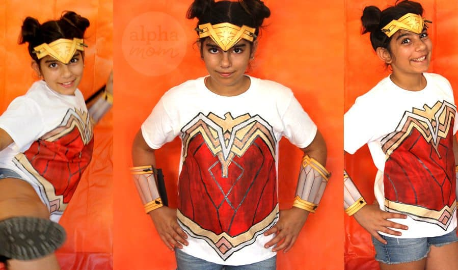 Wonder Woman DIY T-shirt Costume! by Brenda Ponnay for Alphamom.com