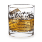 U. S. Constitution Highball Glass: Help him keep the constitution alive with these clever highball glasses.