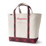 Lands' End Canvas Print Handle Boat Tote: A roomy canvas boat tote makes carting papers and supplies easy. Add a monogram for a personal touch.