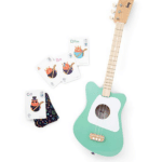 Loog Beginner Guitar: Start your little Jimi Hendrix out with this elegant three string guitar designed for smaller hands. It also converts to a six string for older tweens who are ready to tackle more complex fingering.