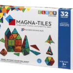 Magna Tiles: These are like small bits of magnetized stained glass that little hands can arrange in 3D shapes. Fun for everyone.