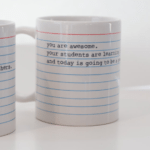 Pep Talk Mug : Even the best teachers need to hear that they're doing a terrific job every once in a while. Fill this upbeat mug with fancy hot cocoa mix or a gift card to a local coffee shop as a thank you for her hard work.