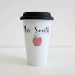 Personalized To Go Mug: No more confusion about which mug is hers: This personalized to go cup makes teacher's lounge mix ups a thing of the past.