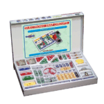 Snap Circuits: These 60 basic pieces can be combined to build over 300 different electronic projects, including doorbells and burglar alarms.