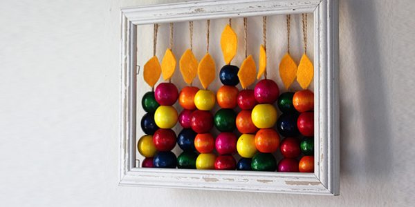 DIY Abacus Menorah for Hanukkah by Brenda Ponnay for Alphamom.com