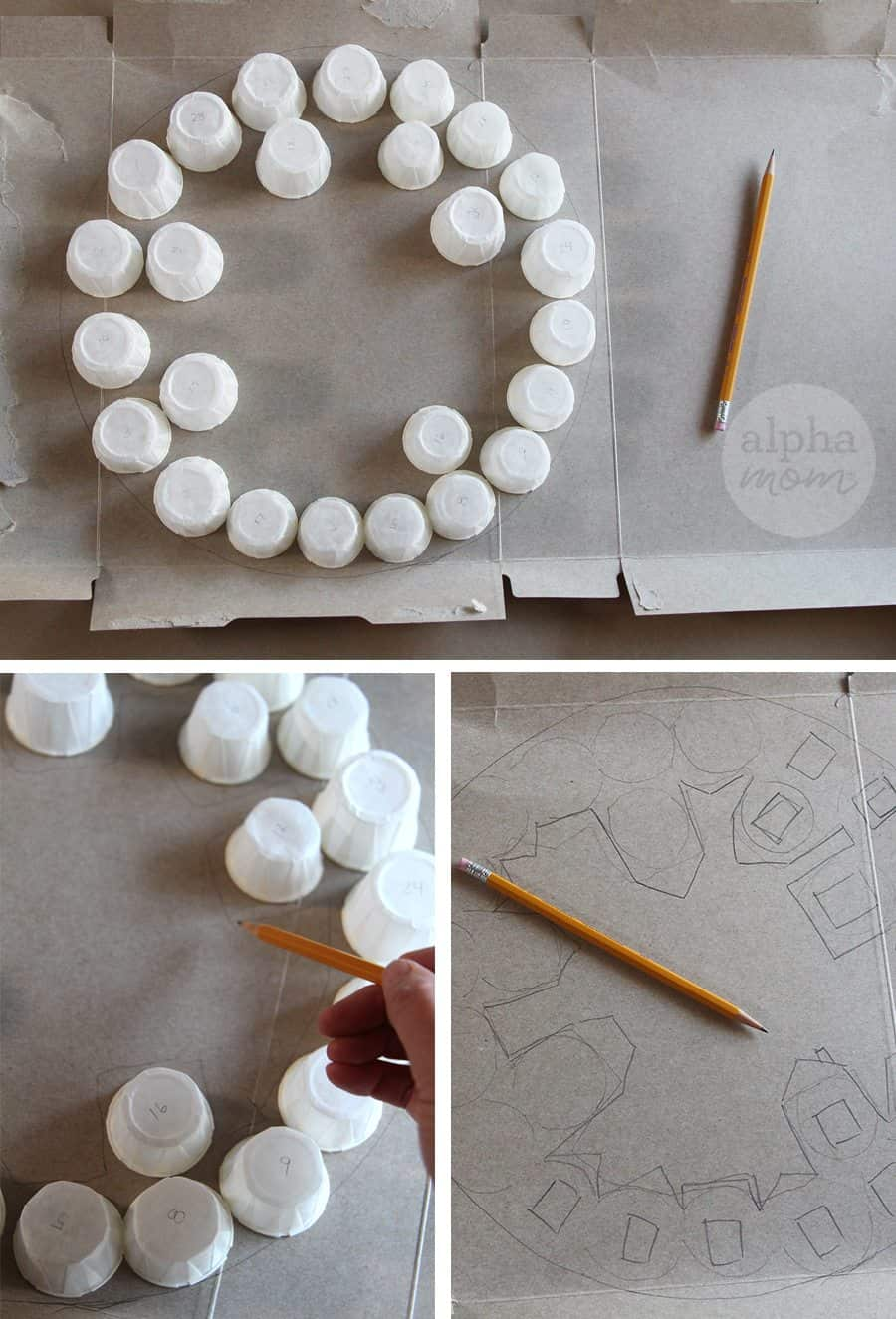 DIY Advent Calendar Wreath for Kids (sketching) by Brenda Ponnay for Alpahmom.com