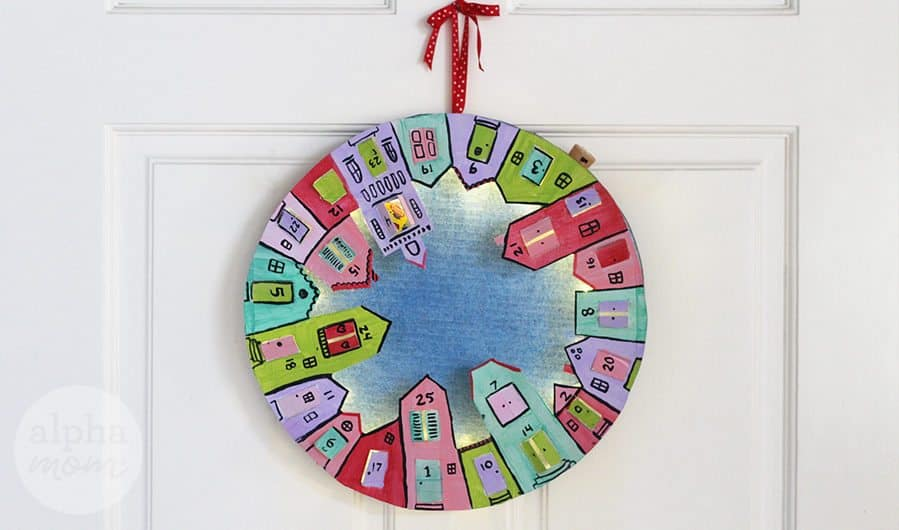 DIY Advent Calendar Wreath for Kids by Brenda Ponnay for Alpahmom.com
