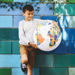 Color the Earth Inflatable Ball: Take coloring to the next level with this 3D globe. Inflate with a bike pump and start exploring the earth. Your kids might even learn something!