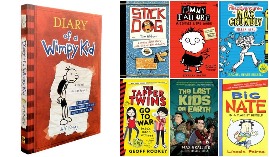 17 Book Suggestions for Kids who love Diary of a Wimpy Kid