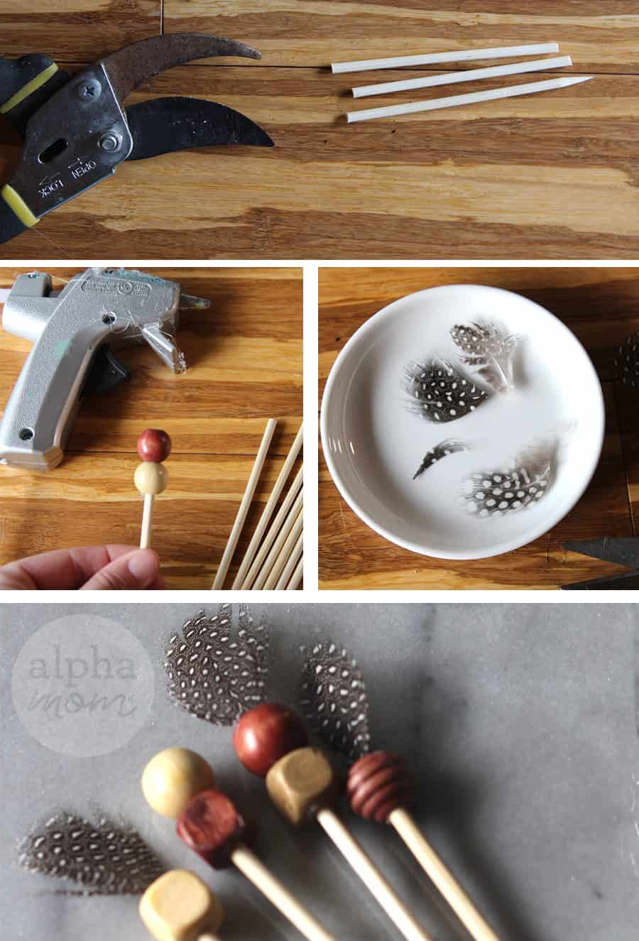 Thanksgiving Drink Stirrer DIY (tutorial) by Brenda Ponnay for Alphamom.com