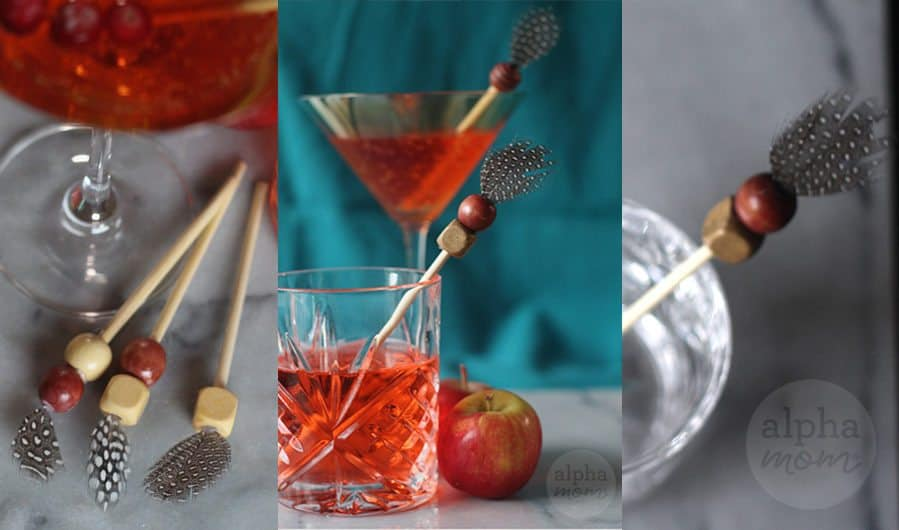 Thanksgiving Drink Stirrer DIY by Brenda Ponnay for Alphamom.com
