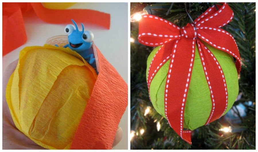 DIY Surprise Ball Christmas Ornaments by Cindy Hopper for Alphamom.com