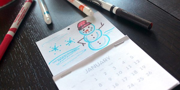 DIY Mini Flip Calendar Printable for Kids by Brenda Ponnay for Alphamom.com