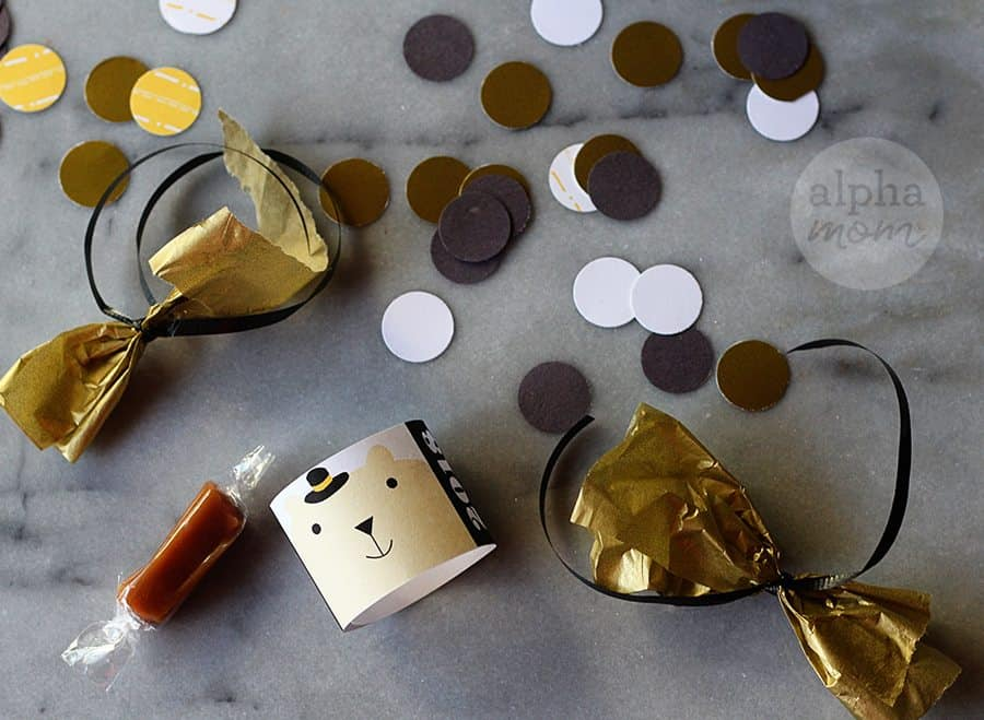 DIY New Year's Mini Confetti laying on a table