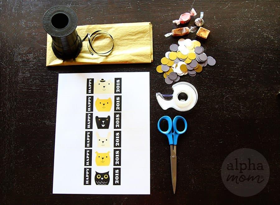 DIY New Year's Mini Confetti Poppers! (supplies) by Brenda Ponnay for Alphamom.com
