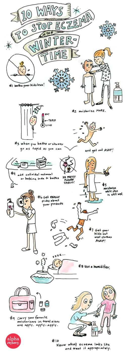 10 Ways to Stop Eczema Cold This Winter by Amy Corbett Storch (art by Brenda Ponnay)