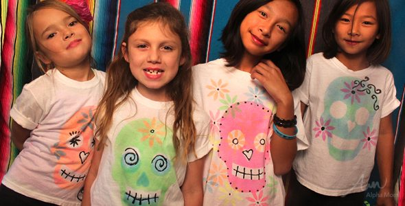 Day of the Dead DIY T-shirt for Kids Tutorial by Brenda Ponnay for Alphamom.com