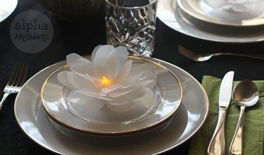 How to make Pretty Flower (or Ice Shard) Tea Light Votives by Brenda Ponnay for Alphamom.com