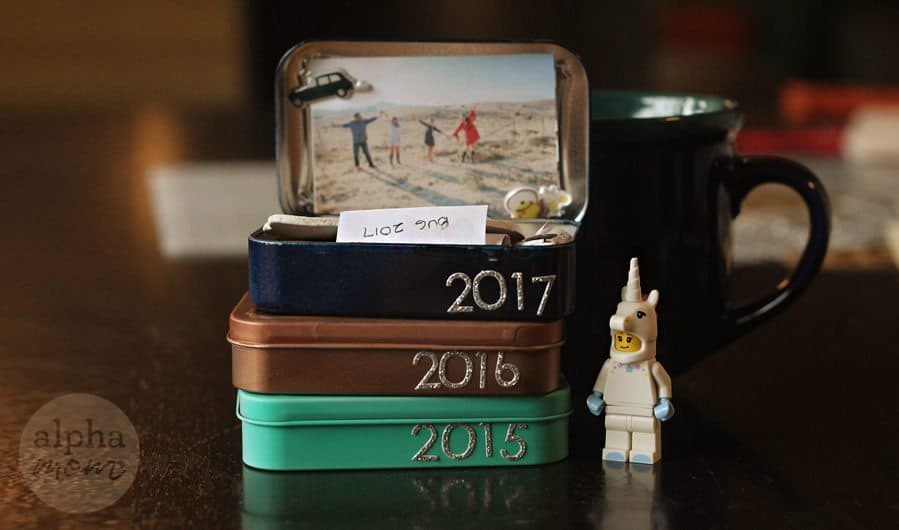 Annual Family Mini Time Capsule (activity to memorialize the past year) by Brenda Ponnay for Alphamom.com