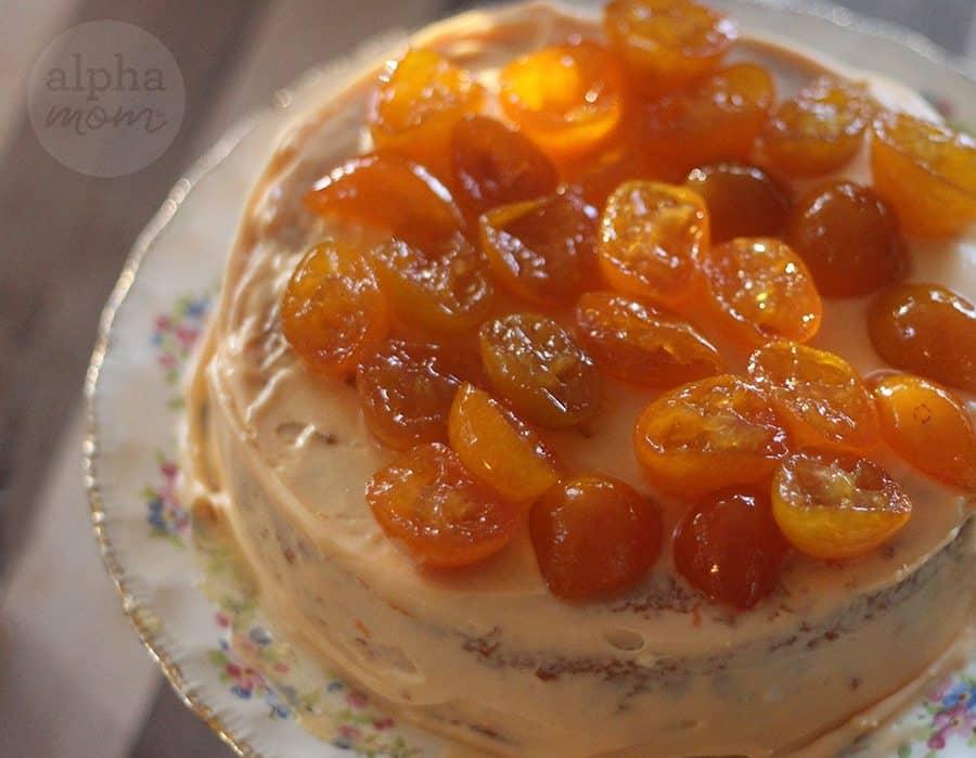 Candied Kumquat Citrus Cake Recipe (grandma's recipe) by Brenda Ponnay for Alphamom.com