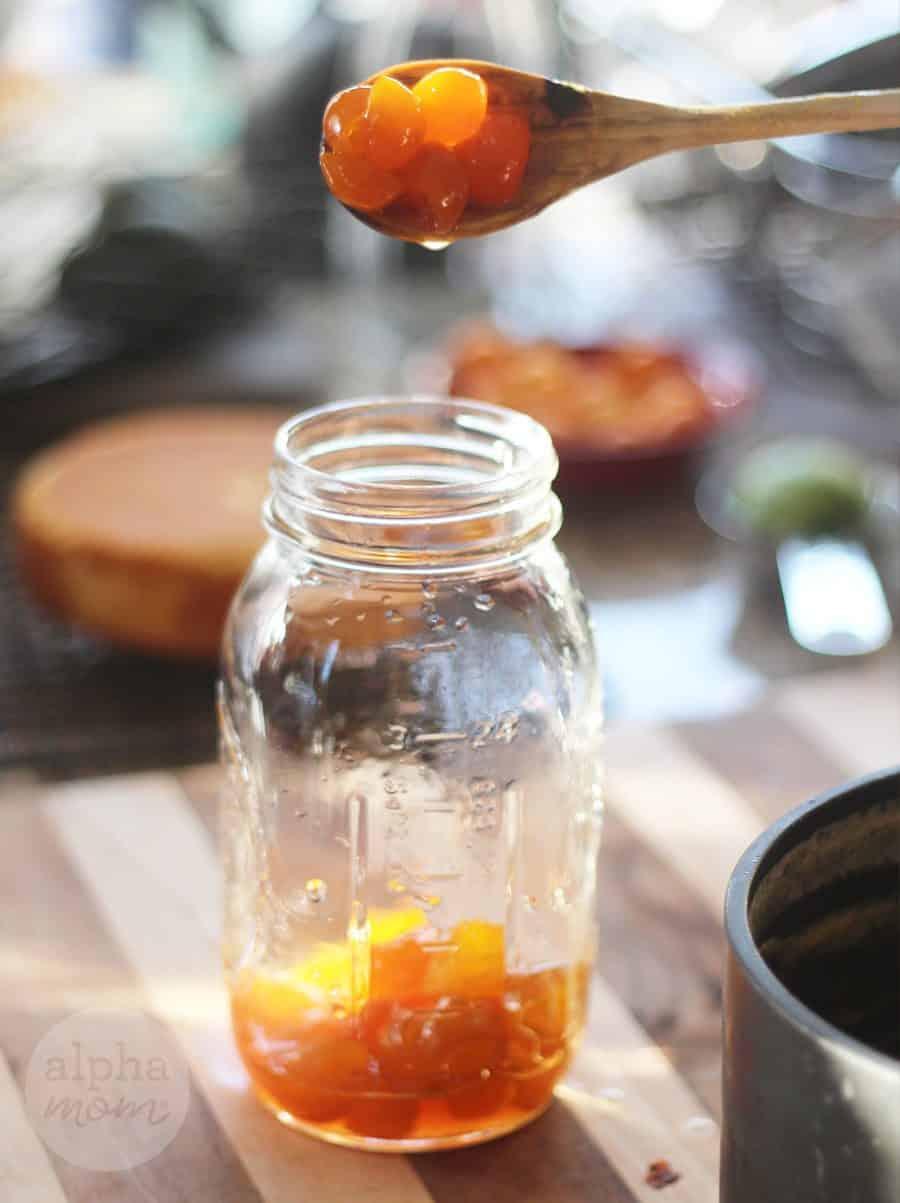 Candied Kumquat Citrus Cake Recipe (candied kumquats) by Brenda Ponnay for Alphamom.com
