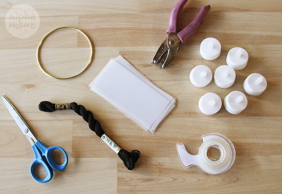 supplies needed to make lantern craft
