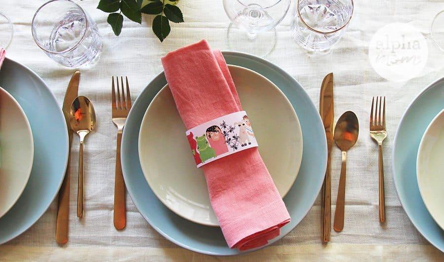 Passover Dinner Educational Napkin Rings for Kids by Brenda Ponnay for Alphamom.com #Passover #TenPlagues #JewishHolidays