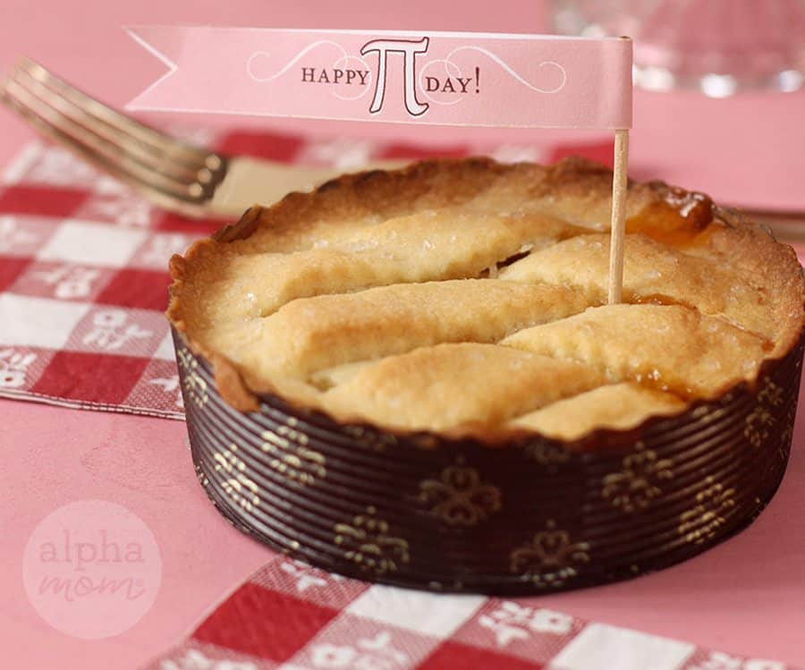 Happy Pi Day Printable Flags! (pies) by Brenda Ponnay for Alphamom.com