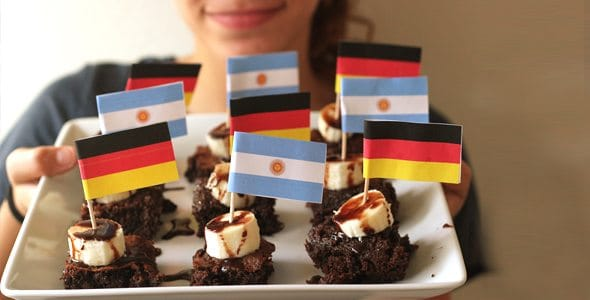 FIFA World Cup 2014 Printable Flags for Party Food by Brenda Ponnay for Alphamom.com