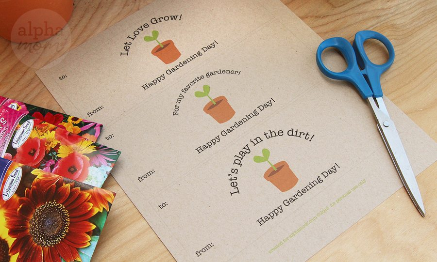 Gardening Seed Packet Card Printables