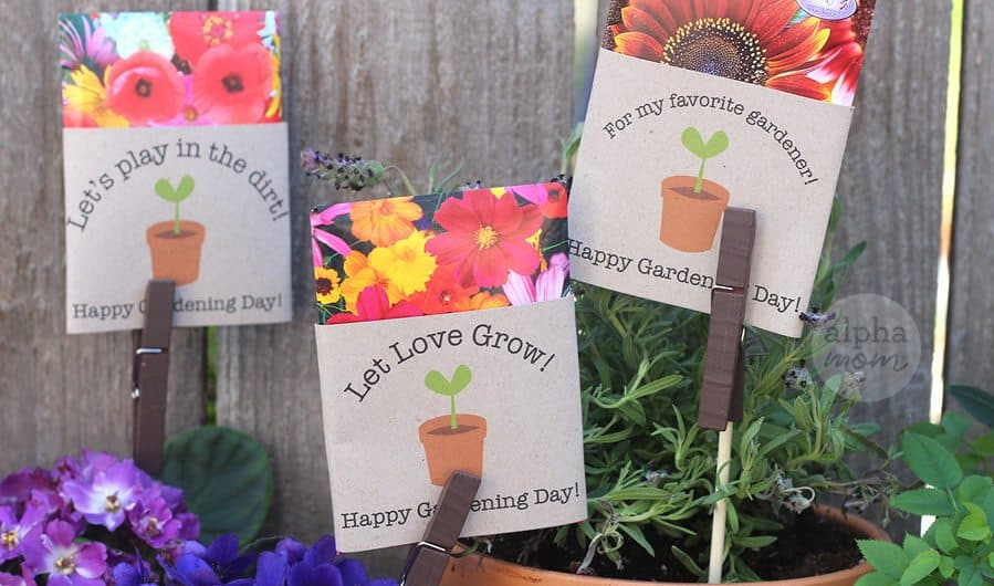 Happy Gardening Day! Exchange Gardening Seed Packet Cards with Friends by Brenda Ponnay for Alphamom.com #HappyGardeningDay #gardeningwithkids #gardening #seedpackets #garden