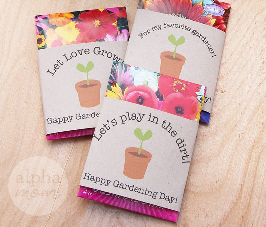 Gardening seed packets for sharing with friends