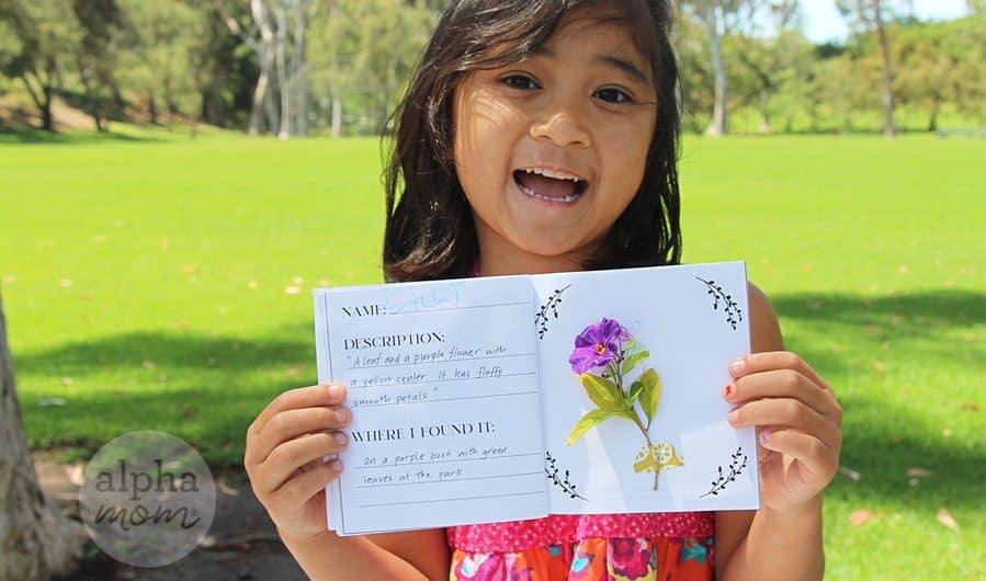 Spring Botany Book Craft for Kids by Brenda Ponnay for Alphamom.com #kidbotanist #botany #flowercraft #kidflowercraft #springcraftkids #kidcraft