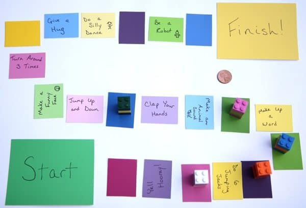 Make a Paint Chip Board Game by Rachel Meeks for Alphamom.com