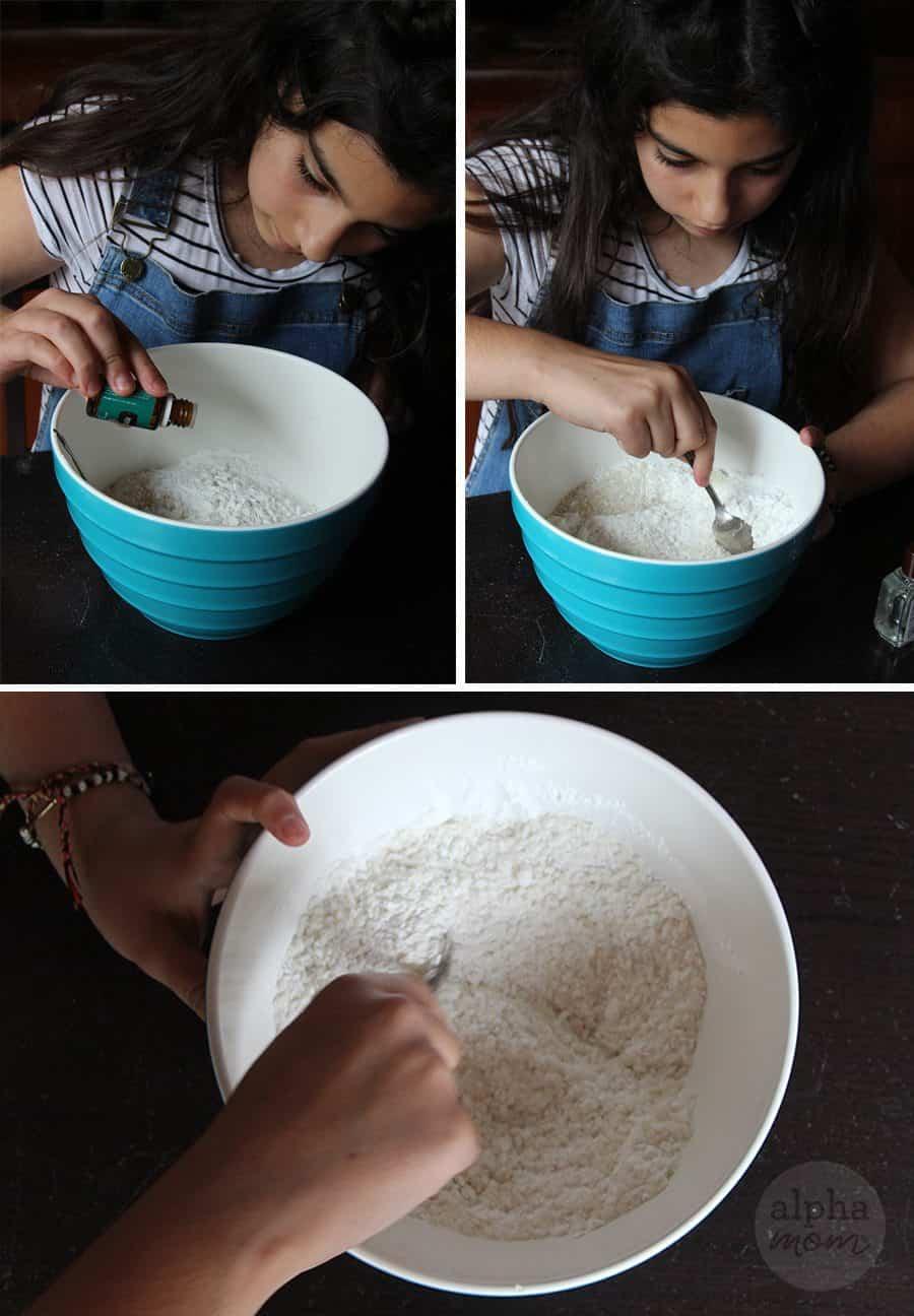 Mixing ingredients for sachet deodorizer