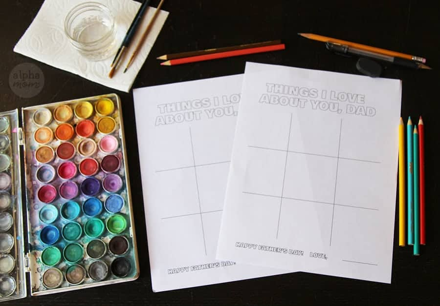 Supplies for Father's Day Illustration Guide