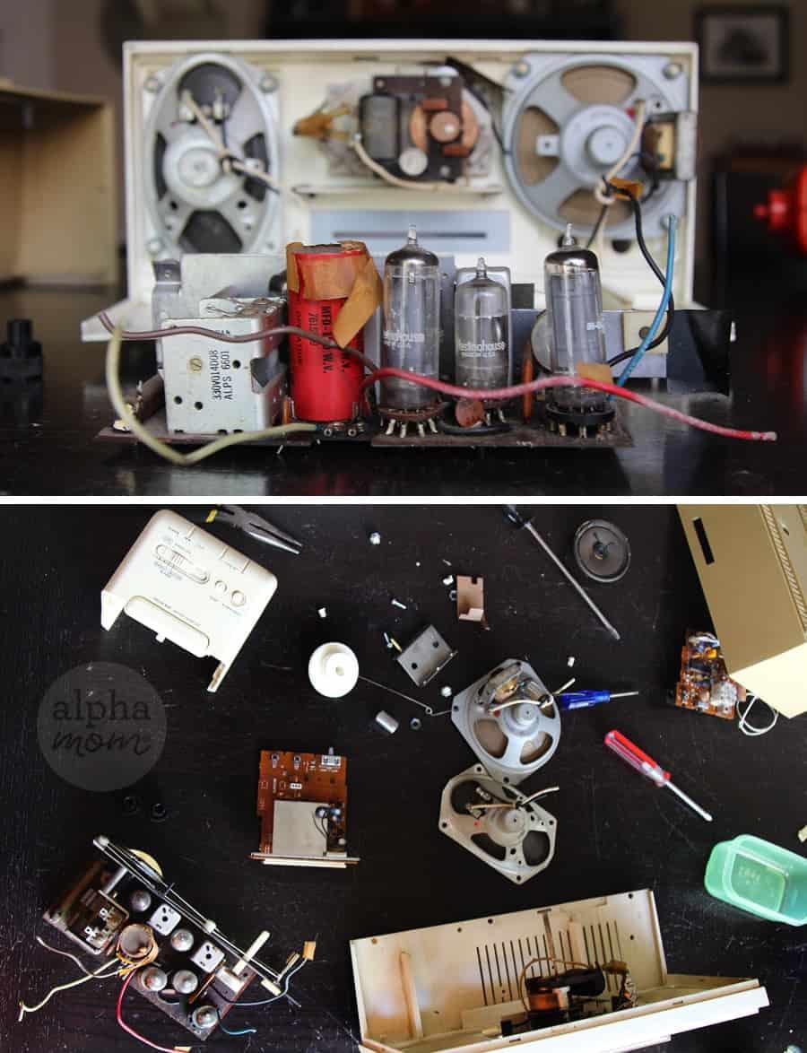 Taking apart vintage clock radio