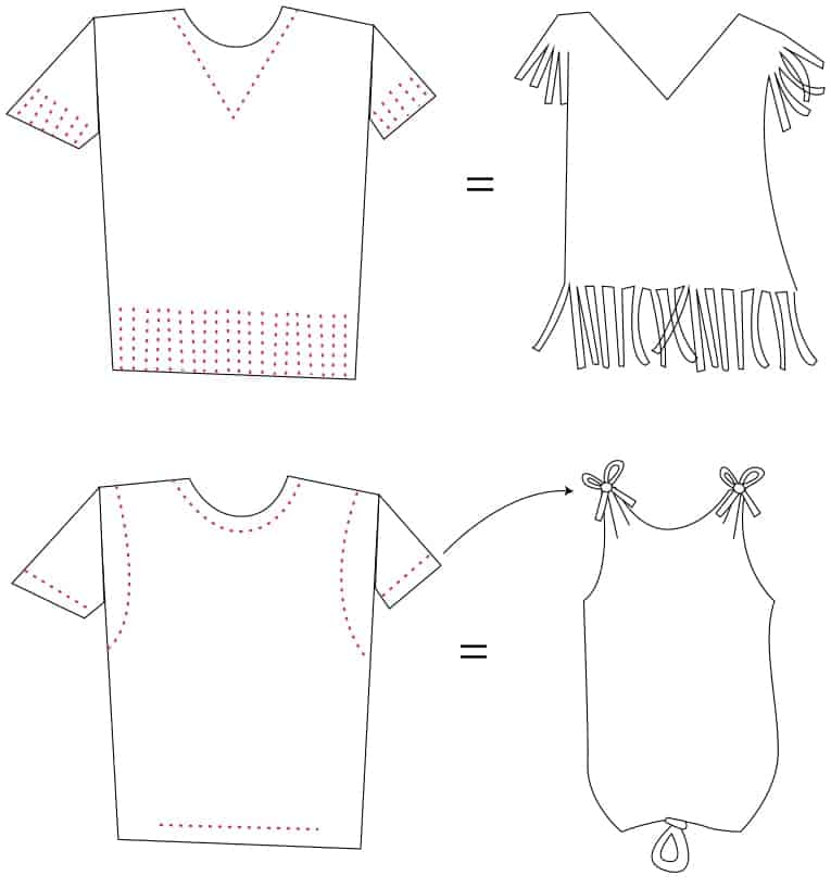 DIY T-Shirt Swimsuit Cover-Ups (patterns) by Brenda Ponnay for Alphamom.com #SummerCraft #BeachCraft #KidCraft #SummerFun