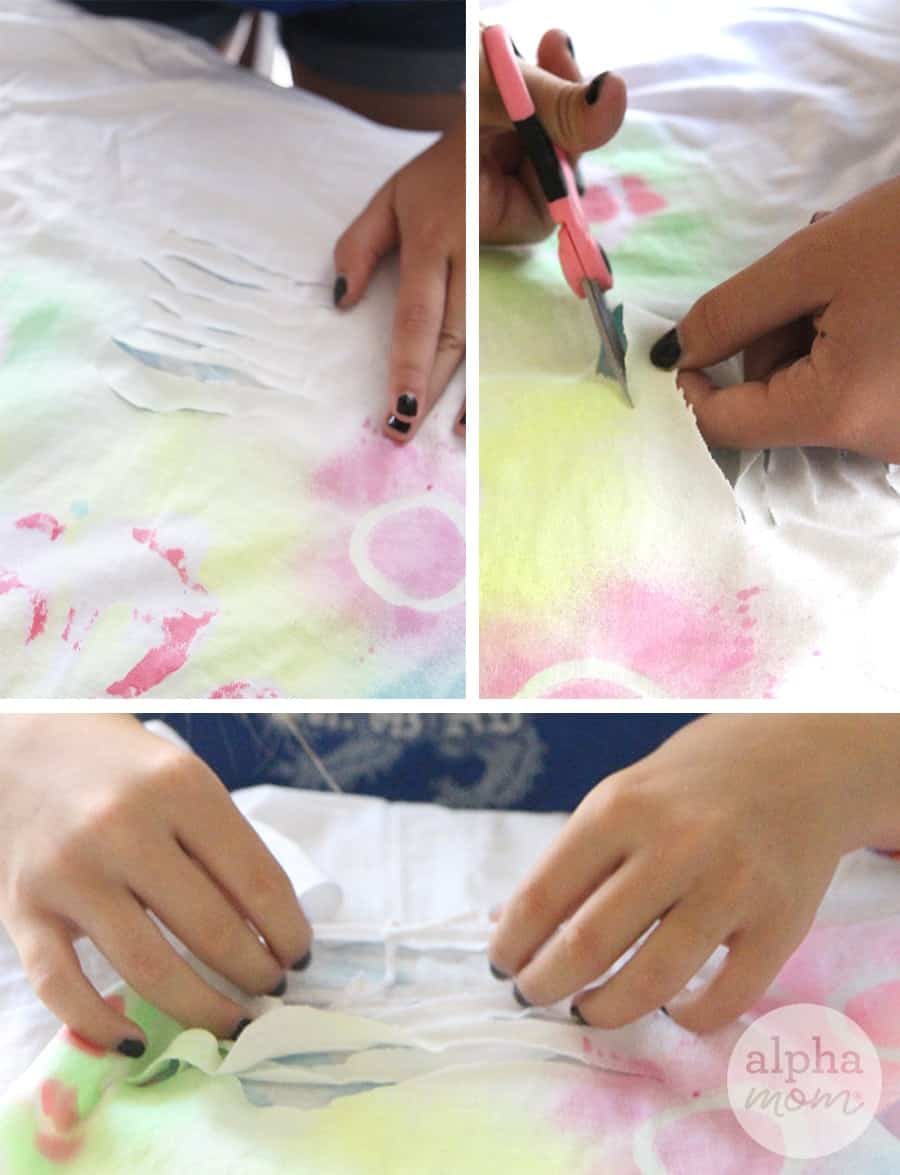 DIY T-Shirt Swimsuit Cover-Ups by Brenda Ponnay for Alphamom.com #SummerCraft #BeachCraft #KidCraft #SummerFun #TweenCraft
