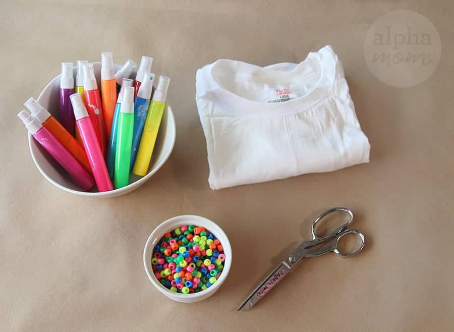 DIY T-Shirt Swimsuit Cover-Ups (supplies) by Brenda Ponnay for Alphamom.com #SummerCraft #BeachCraft #KidCraft #SummerFun