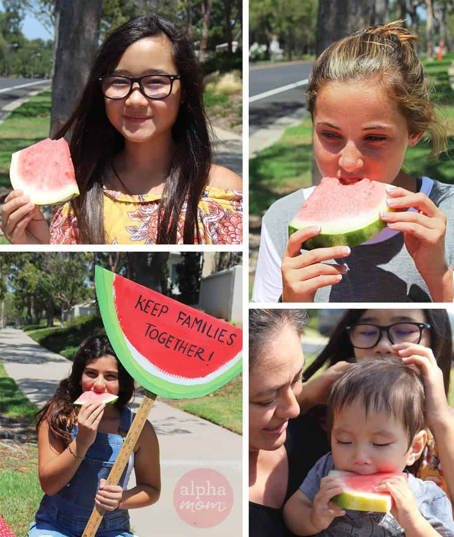 Watermelon Stand to Raise Money for Causes that Matter to Your Kids by Brenda Ponnay for Alphamom.com #KidFundraising #Citizenship