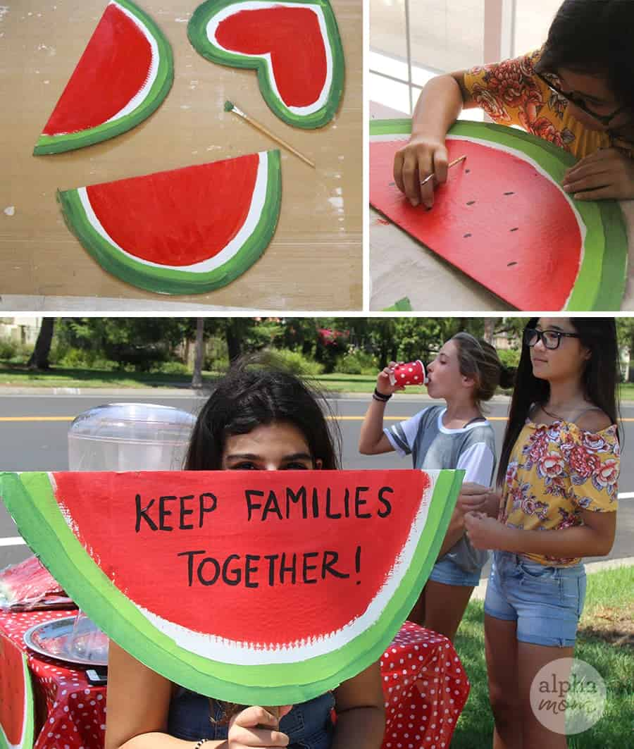 Watermelon Stand to Raise Money for Causes that Matter to Your Kids by Brenda Ponnay for Alphamom.com #LemonadeStand #KeepFamiliesTogether #KidFundraising
