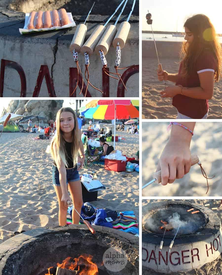 Personalized Campfire Roasting Sticks DIY by Brenda Ponnay for Alphamom.com #smores #summer #SummerCraft