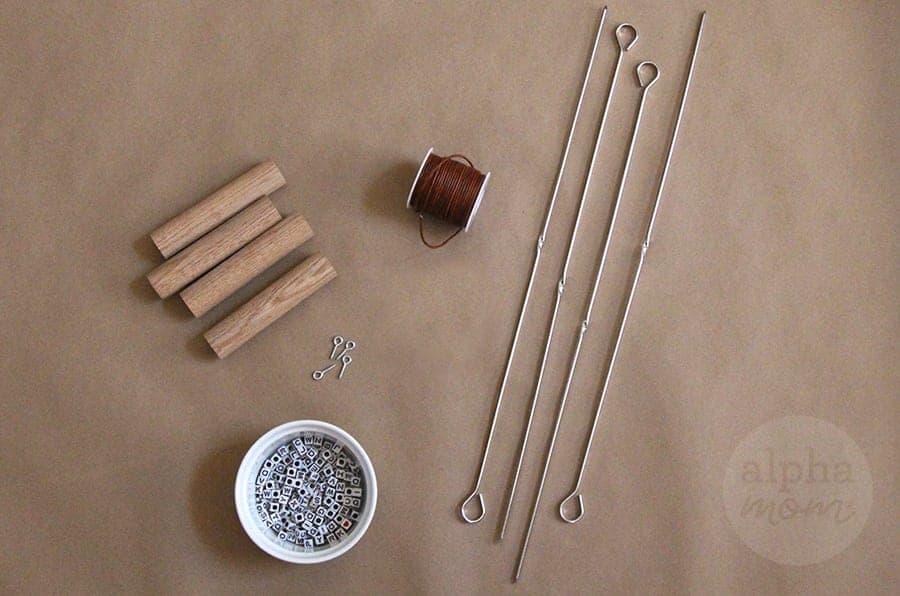 Personalized Campfire Roasting Sticks DIY (supplies) by Brenda Ponnay for Alphamom.com #smores
