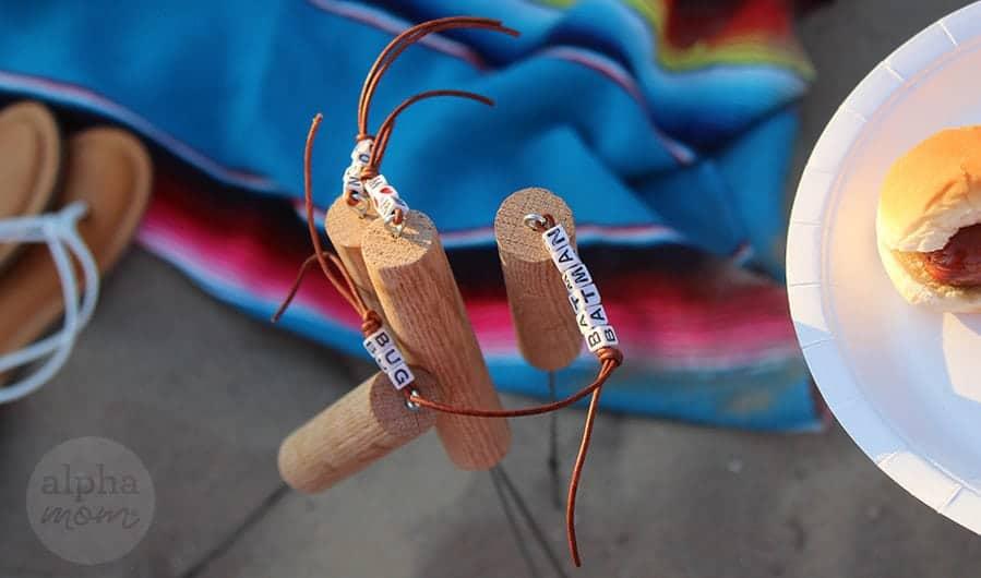 Personalized Campfire Roasting Sticks DIY by Brenda Ponnay for Alphamom.com #smores #camping #firepit
