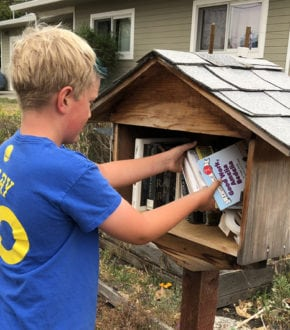 Little Free Library: Stock your local ones with your book purges #summer #BookDonations #SpringCleaning #OutdoorActivities #KidActivities
