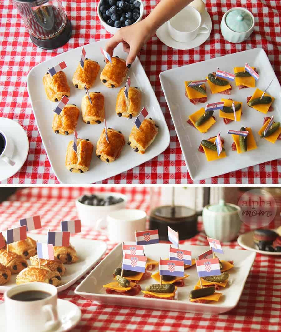 World Cup Finals 2018 Party Food Flags! (Croatia vs. France) by Brenda Ponnay for Alphamom.com