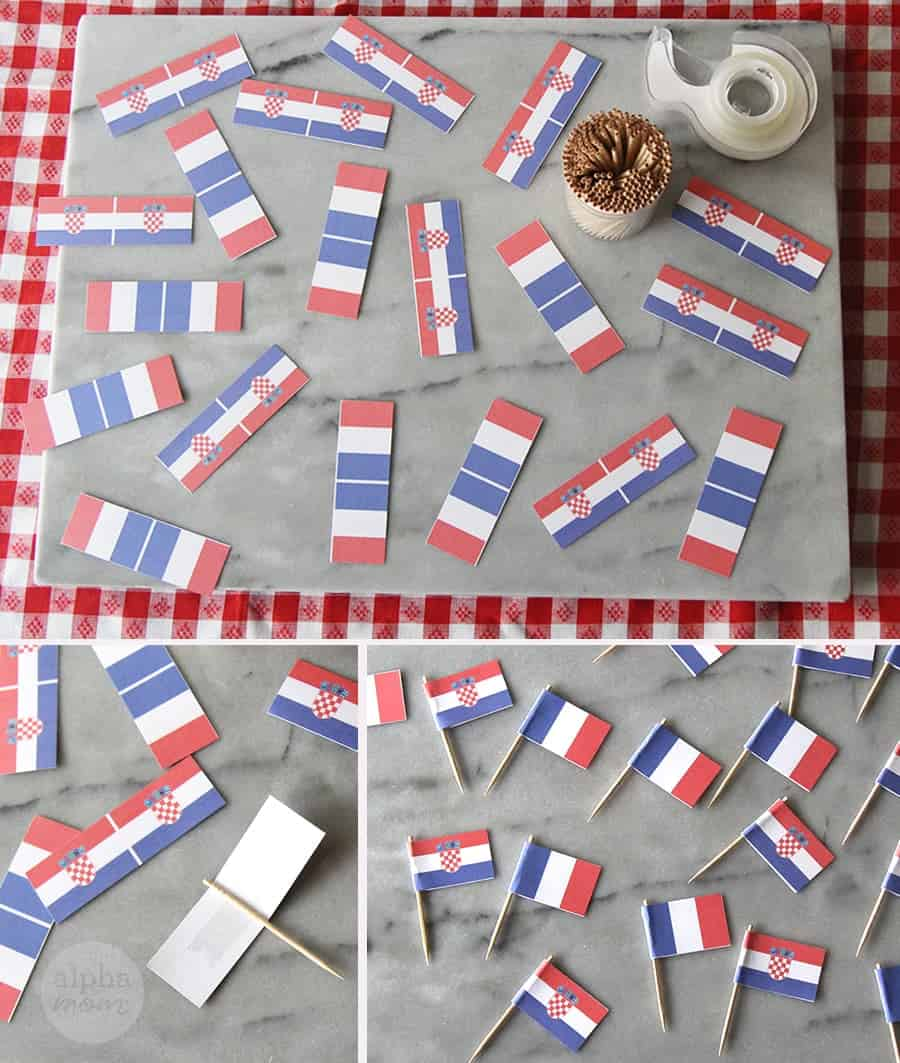 World Cup Finals 2018 Party Food Flags Here! (Croatia vs. France) by Brenda Ponnay for Alphamom.com