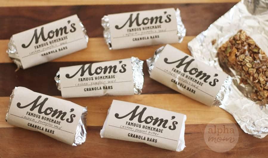 Homemade Granola Bars and Wrappers by Brenda Ponnay for Alphamom.com