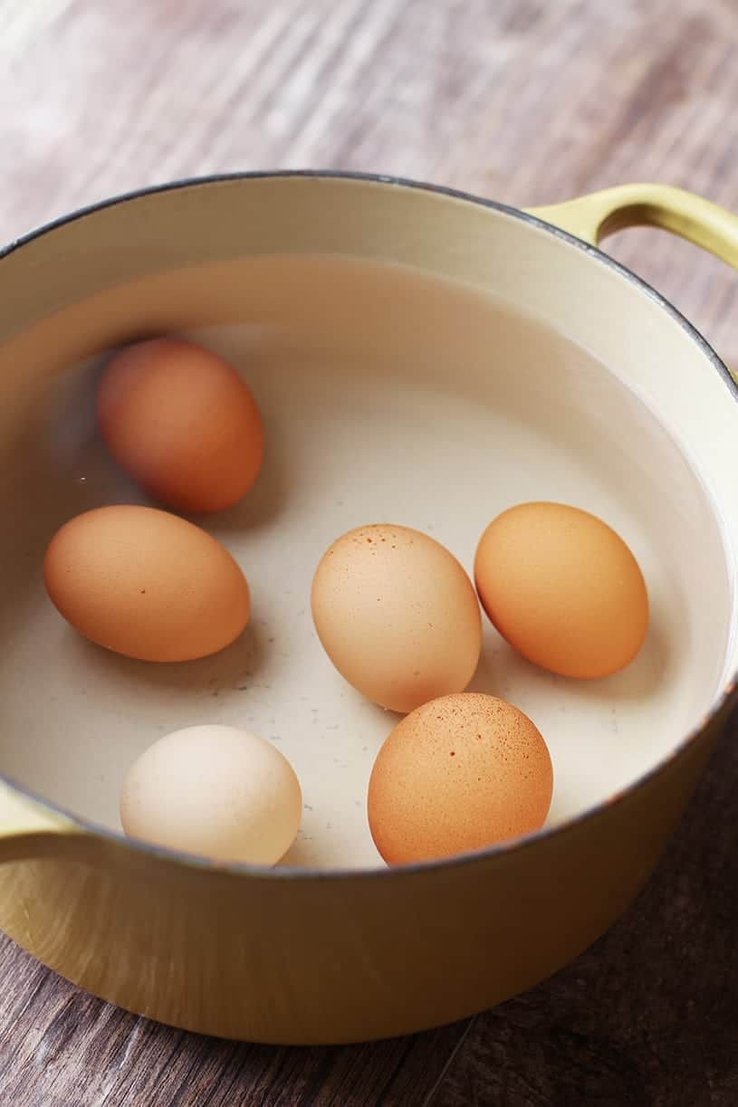 How to Cook a Hard Boil an Egg: Cover eggs with 1 inch of cold water when hard boiling (Recipes Kids Should Know How to Make Before Leaving Home)